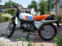 Jim Isherwoods 1981 R80G/S after its MoT pass
